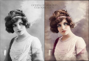 Before and After - Actress Polaire by RMS-OLYMPIC