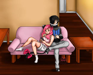 Saturday Quiet Time Together by Tears-of-Xion