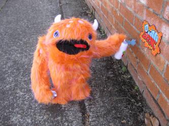 Graffiti Monster by boomplush