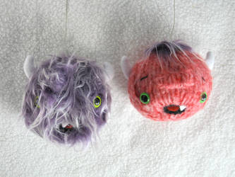 Ornament Monster Balls by boomplush