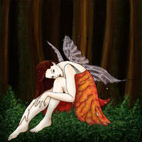 The Red Faerie by jdrainville