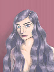 Lorde Illustration by Plamondon