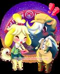 Isabelle and Kicks by ZantChan