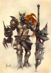 Nightmare-gladiator by ResidenteCorva