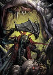 Demon versus demons by ResidenteCorva