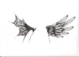 tattoo wings by LilDevilMomoko