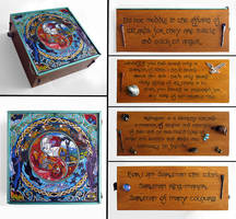 The Wizards:  hand painted box by RFabiano