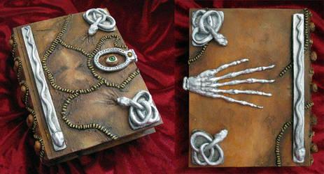 Hocus Pocus book of spells- wooden hideaway book by RFabiano