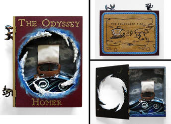 The Odyssey book sculpture by RFabiano