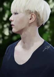 Portrait practice- Suga/Min Yoongi by Gaalad