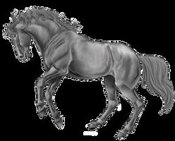 Rearing Horse Line Art By Xxkincadesvanityxx-greys by AquaSalt