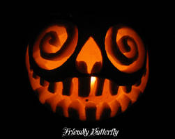 Insane Glowing Pumpkin by FriendlyButterfly
