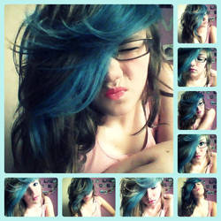 Blueee Hairrr :D by xLoveYourLifex