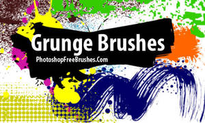 Ink Splats PS Grunge Brushes by fiftyfivepixels