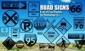 Road Signs Brushes by fiftyfivepixels
