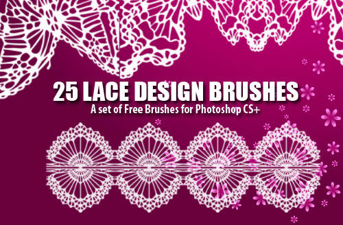 Lace Design Brushes by fiftyfivepixels
