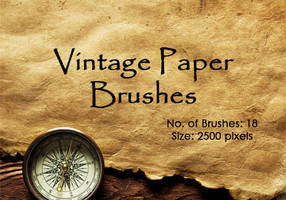 Vintage Paper Brushes by fiftyfivepixels