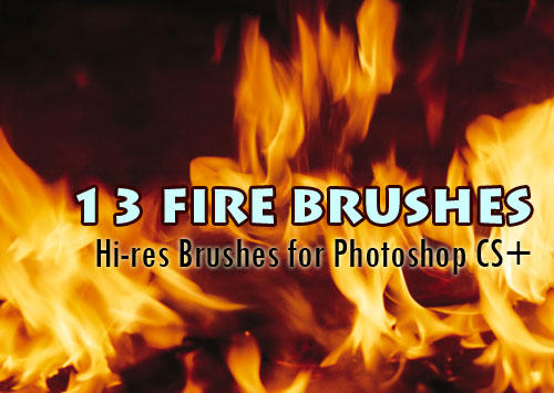 Fire Brushes by fiftyfivepixels