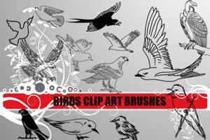 Bird Clip Art Photoshop Brushe by fiftyfivepixels