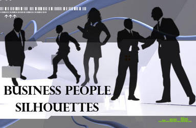 21 Business People Silhouettes by fiftyfivepixels