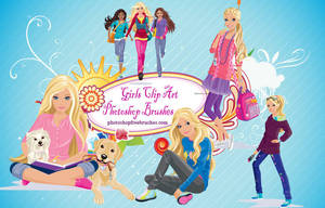 17 Girl Clip Art PS Brushes by fiftyfivepixels