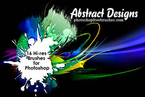 16 Abstract Designs Brushes by fiftyfivepixels
