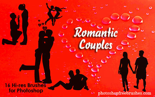 Lovers Photoshop Brushes by fiftyfivepixels
