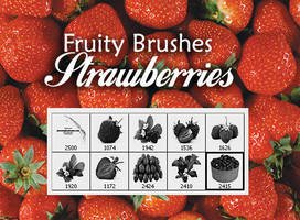 Fresh Strawberry Picture Brush by fiftyfivepixels