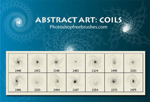 Abstract Art Brushes: Coils by fiftyfivepixels
