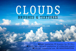 Aerial Clouds Photoshop Brushes by fiftyfivepixels
