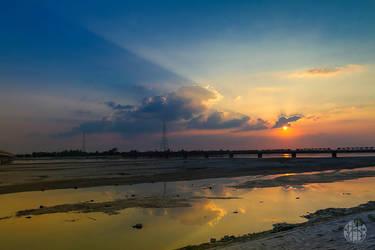 Sunset In TISTA by yearuzzaman