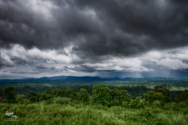 Rain In Hills by yearuzzaman