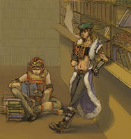 A day at the library by Sepia-Heart
