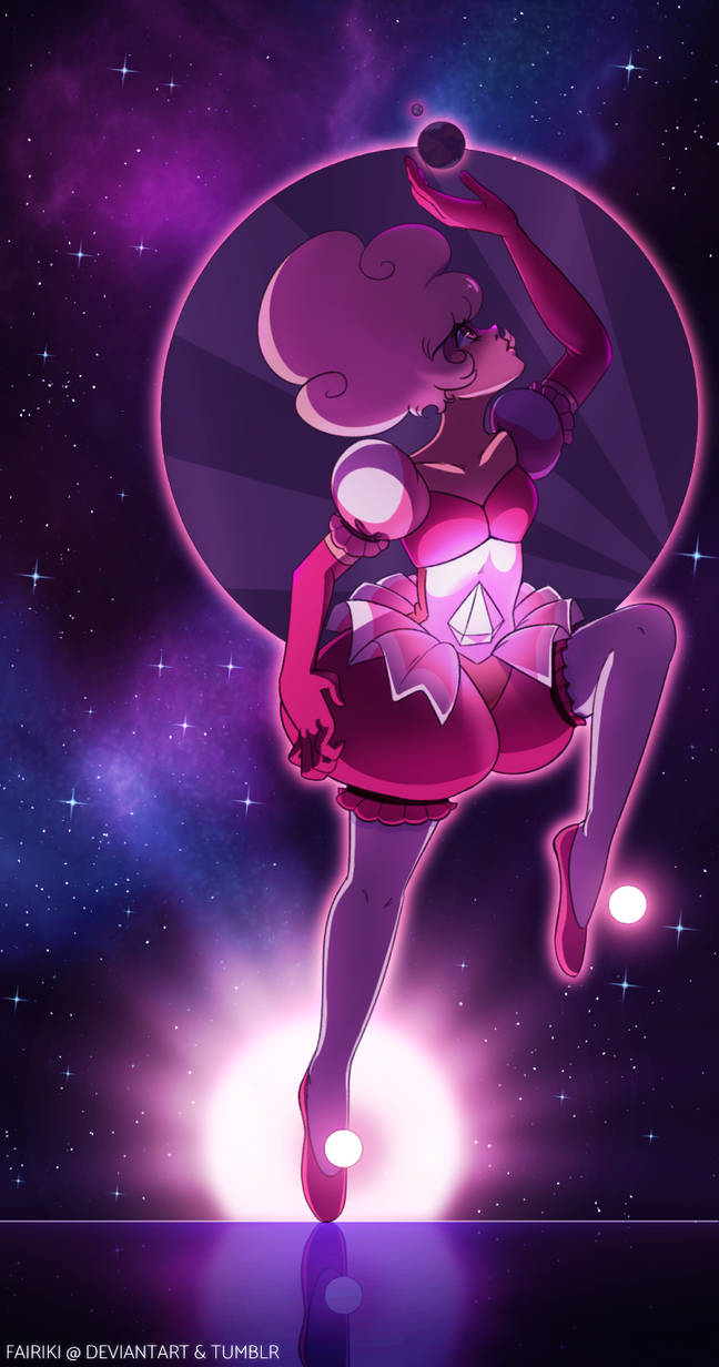 1/4 :: I found my space brushes again woooo! Here's a redraw of the Pink Diamond mural from Steven Universe! Illustration (c) fairikiSteven Universe (c) Rebecca Sugar / Cartoon Network Please do no...