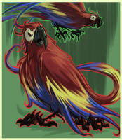Critical Hit- Macaw Monster by stplmstr