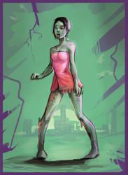 Zombie Girl by F87w
