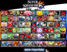 SSB4 Roster Checklist by SmashBrawlR7538