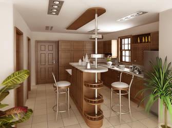 Kitchen interior by lisarimski