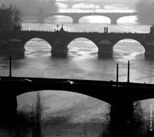 Bridges in Prague by Divadlo