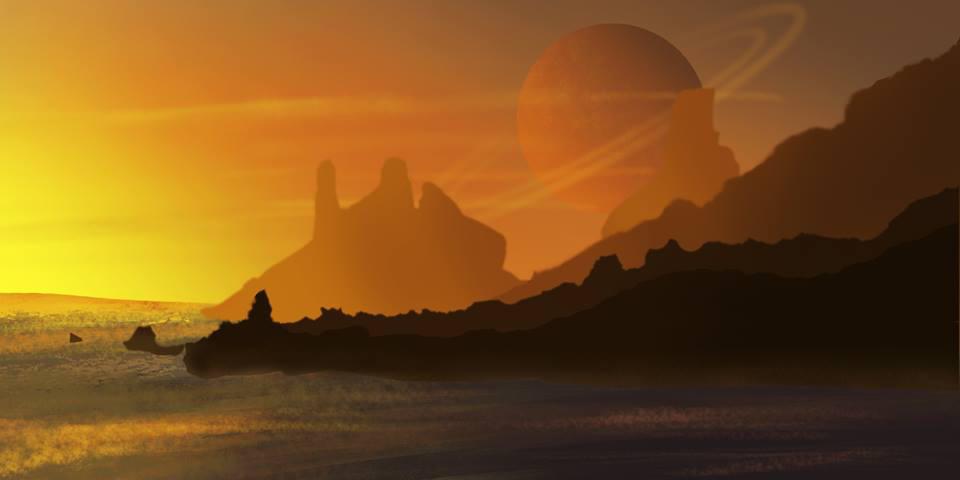 Alien Landscape by Finkdaddy