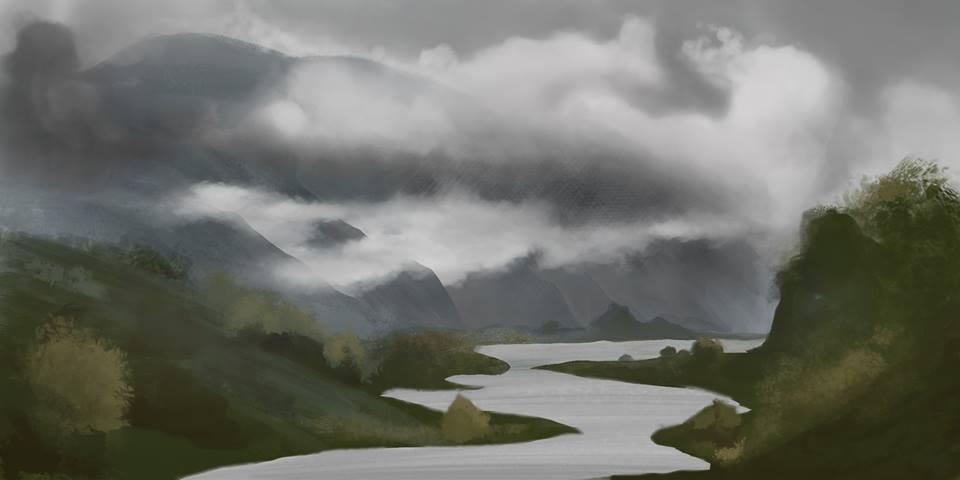 River Landscape by Finkdaddy