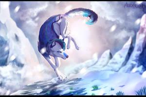 Wolf and blizzard by Argona-TF-spy
