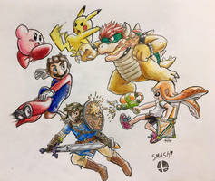 Super Smash Bruddahs by KHoDrawsStuff789