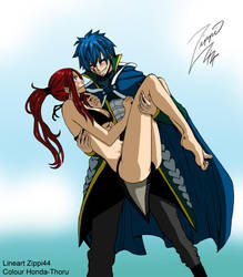 Fairy tail jerza take what's yours -colour-. by Honda-Thoru