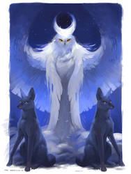 Tarot_The Moon by Keltainen