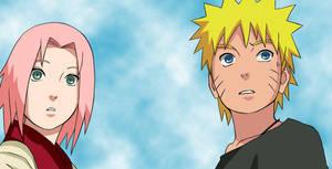 Naruto and Sakura by narutotenkaichi