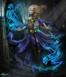 Outcast Odysset Contest Entry - Wizard/Warlock by giselleukardi