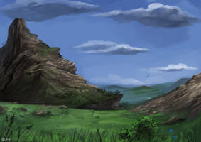 Pacific mountains by Brissinge