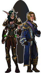 Commission: Elf and human by Brissinge