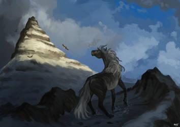 Commission: Eagle peak by Brissinge